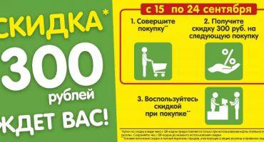 Получи скидку 300 рублей